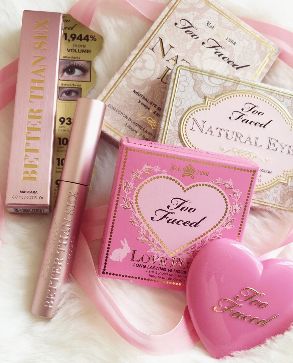 Too Faced Splurge | Natural Eyes Palette, Love Flush Blush & Better Than Sex Mascara