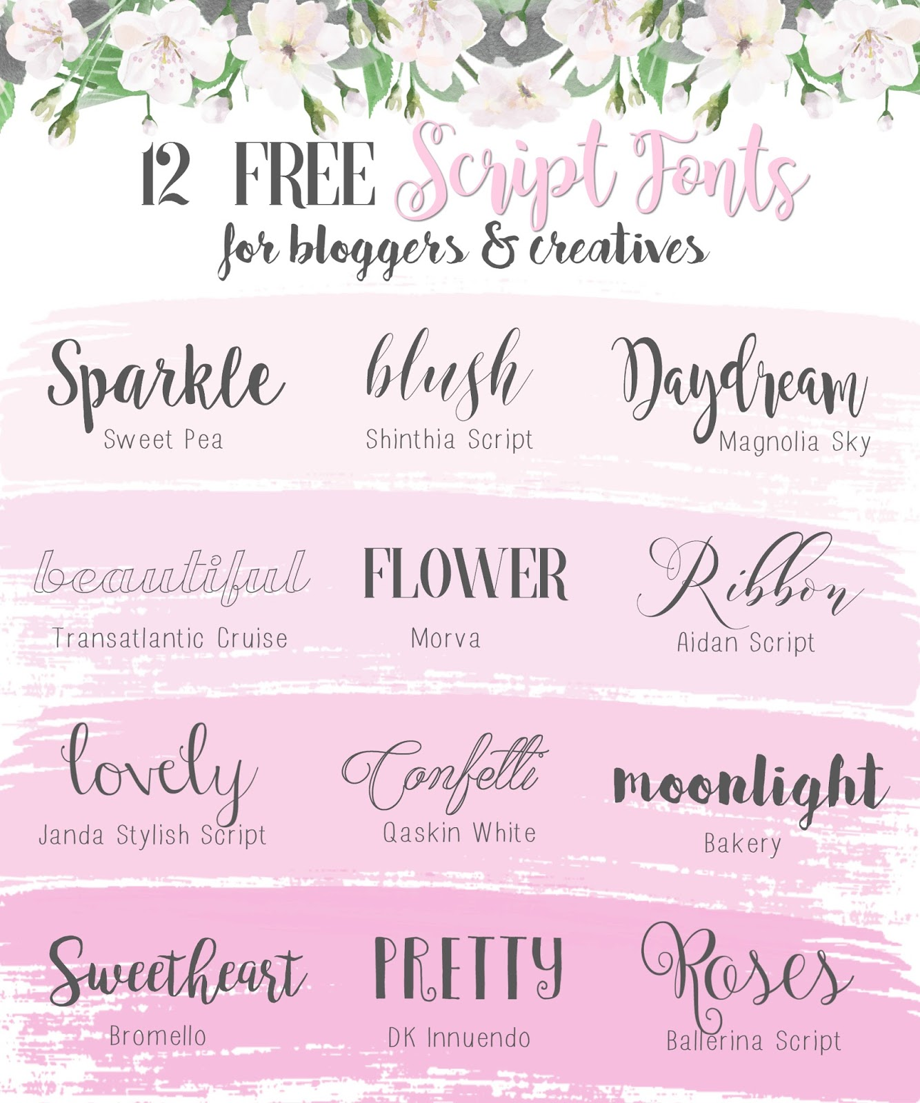 Beauty Font For Instagram: My Favourite Free Script Fonts For Blogging
