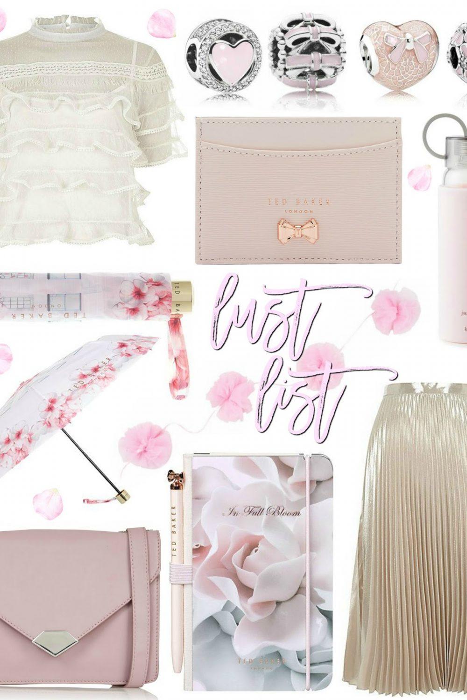 Blush Pink & Cream Lust List