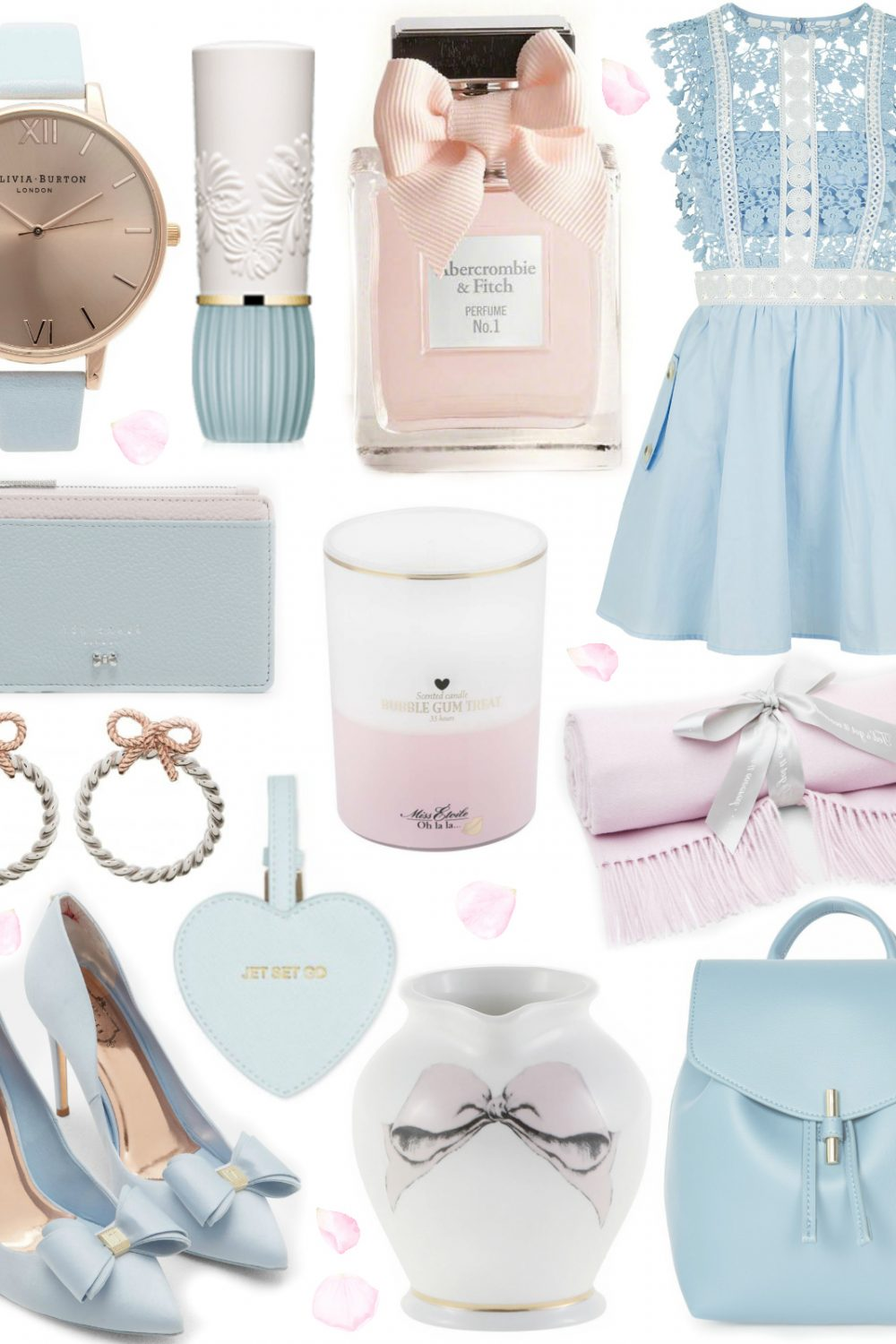 A Cinderella Wishlist ~ Powder Blue & Blush Pink