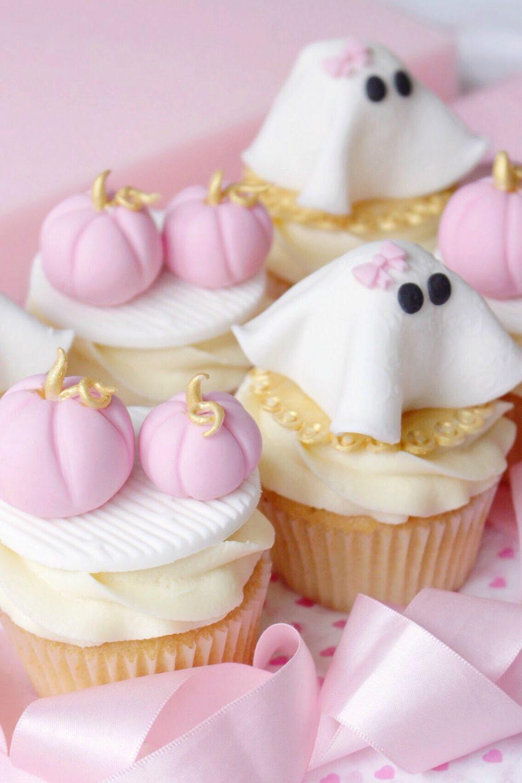Halloween Cupcake Tutorial: Pink Pumpkins & Girly Ghosts