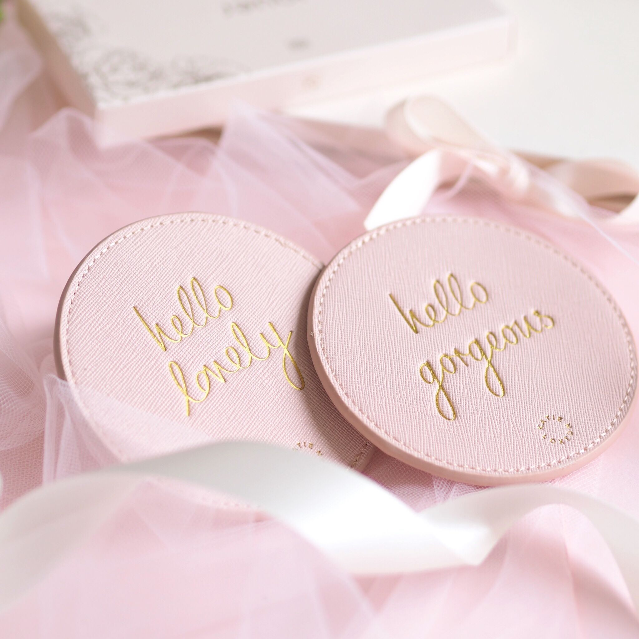 Special Gift Ideas For Mother's Day, Gift Guide, Katie Loxton Hello Lovely & Hello Gorgeous Coasters | Love Catherine