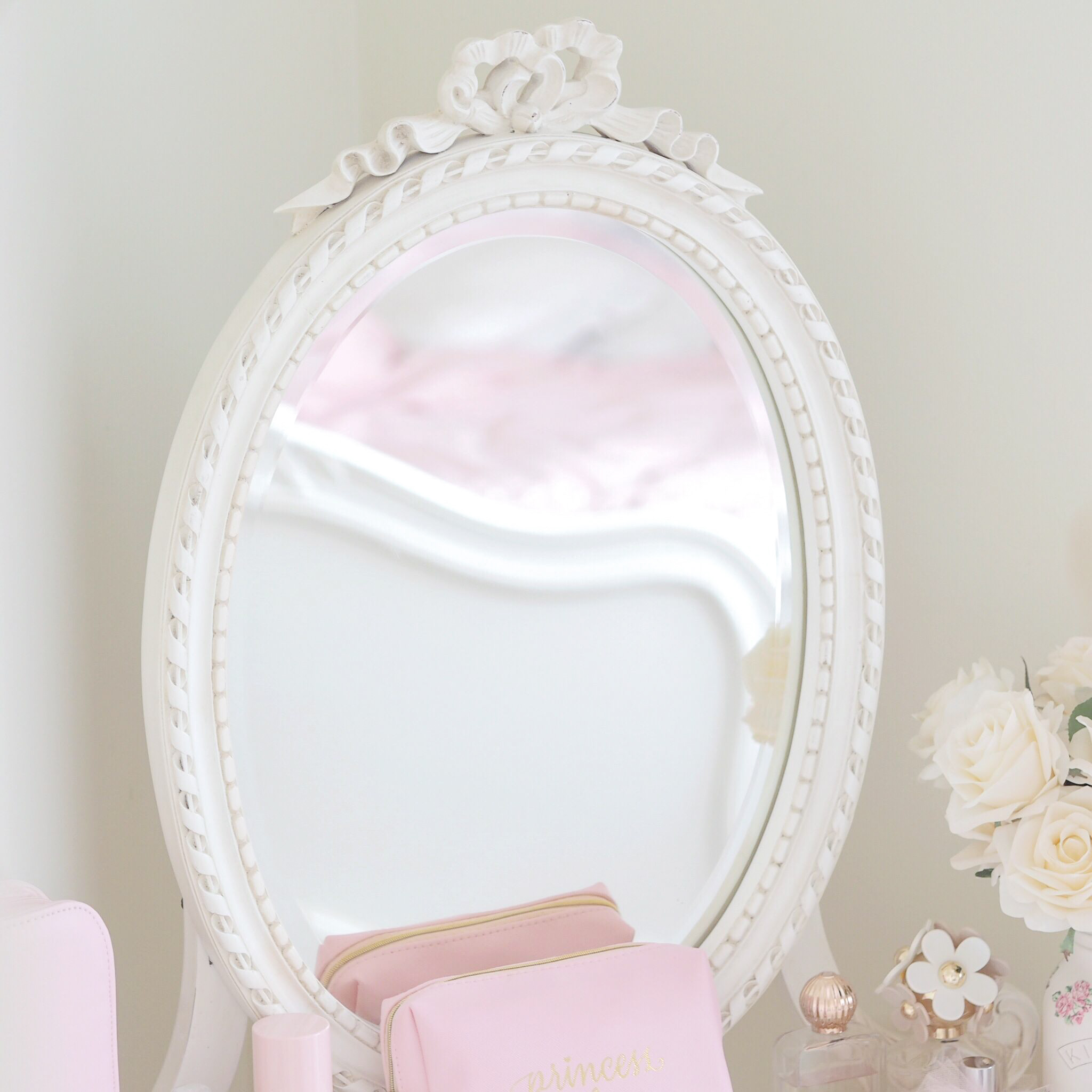Styling My Princess Dressing Table, Girly Bedroom, Vanity, Makeup Storage | Love Catherine