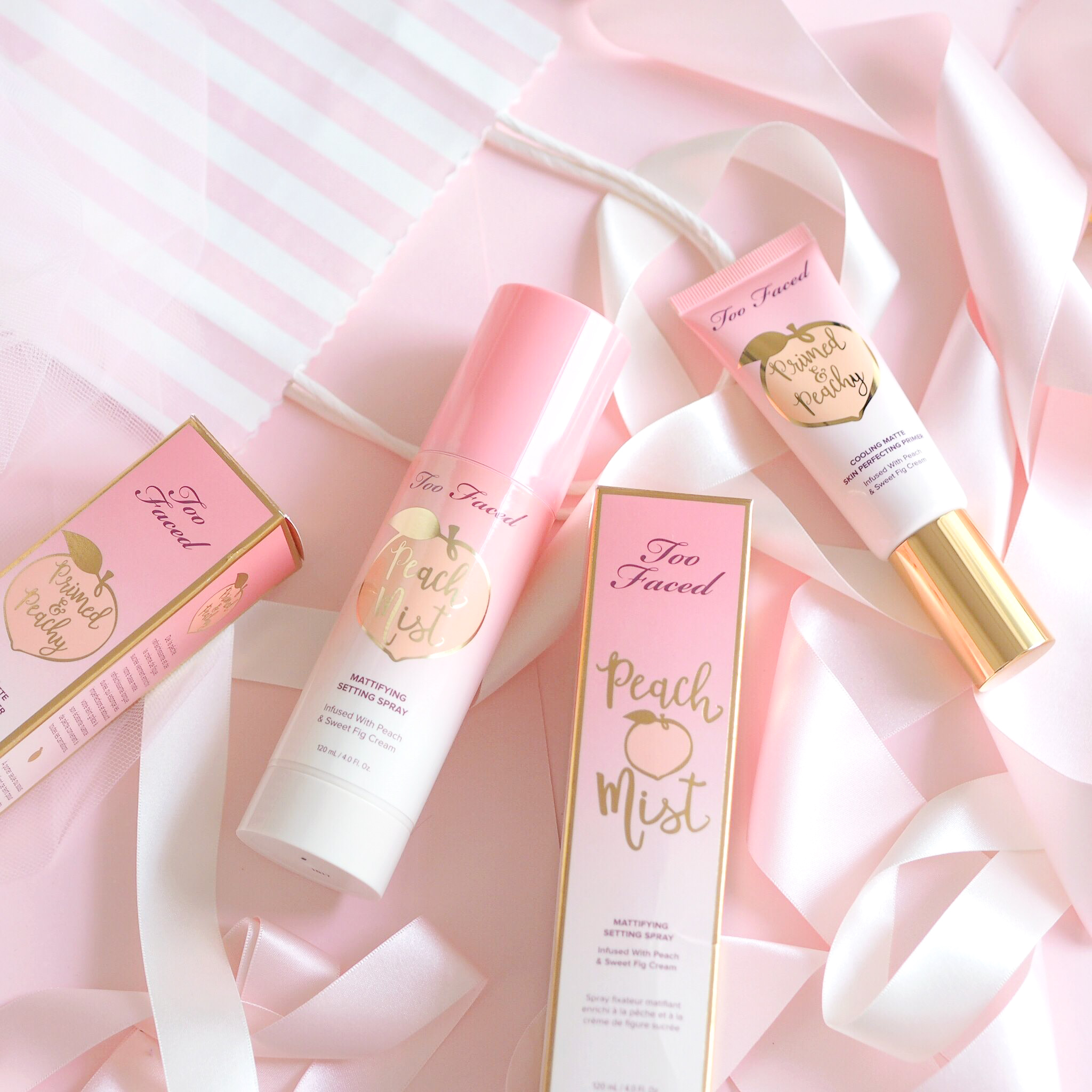 The Too Faced Carnaby Boudoir Store, Peaches & Cream Collection, Peach Mist, Primed & Peachy Primer | Love Catherine