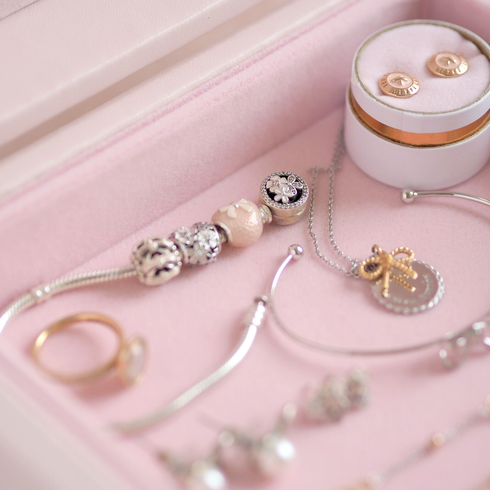 Inside My Jewellery Box: My Favourite Dainty Pieces, Pandora Poetic Blooms Bracelet | Love Catherine