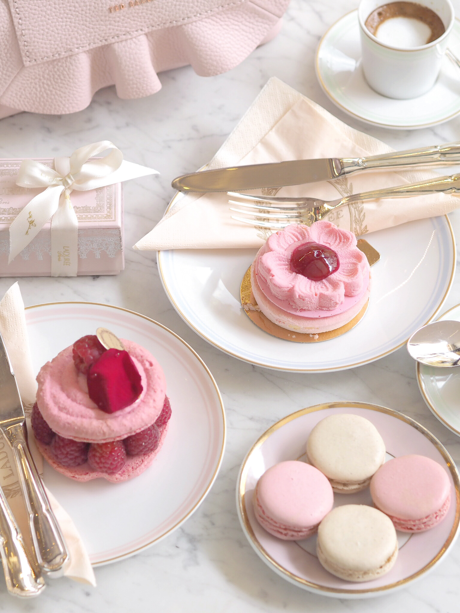 An Afternoon In Mayfair: Opulent Pink Treats In A Ladurée Dreamland | Love Catherine