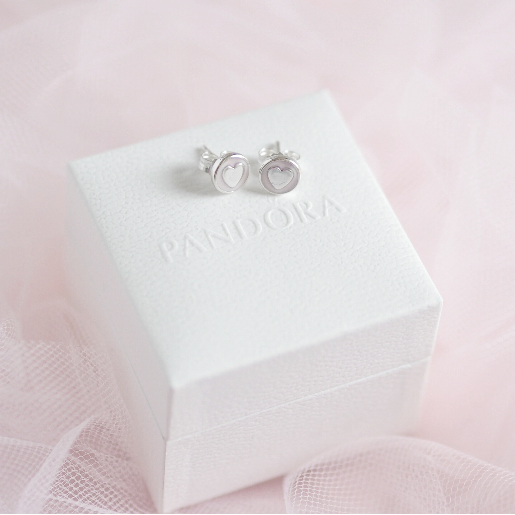 Pandora Sweet Statement Heart Earrings, The Lovely Things I Received For Christmas | Love Catherine