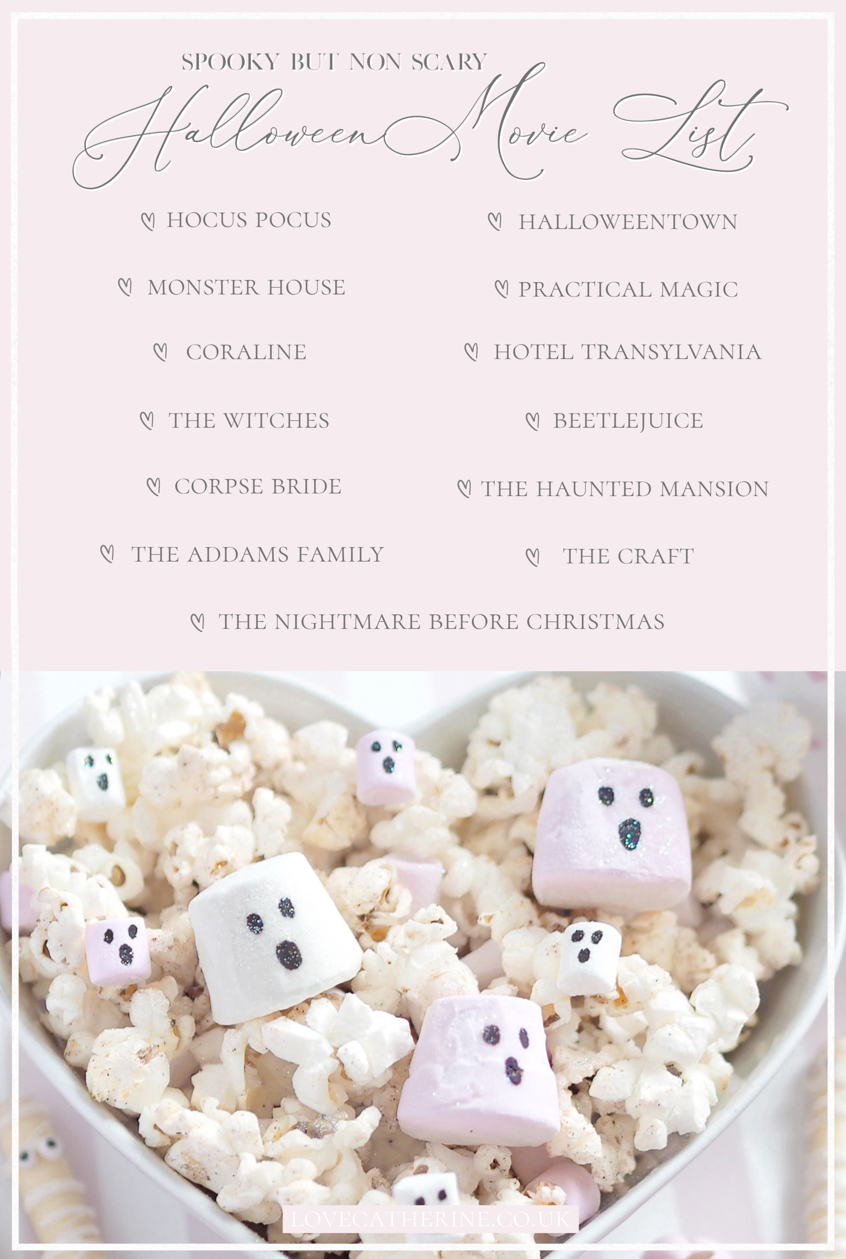 Spooky But Non Scary Halloween Movie List | A Girly Halloween Movie Night With 3 Easy Treats