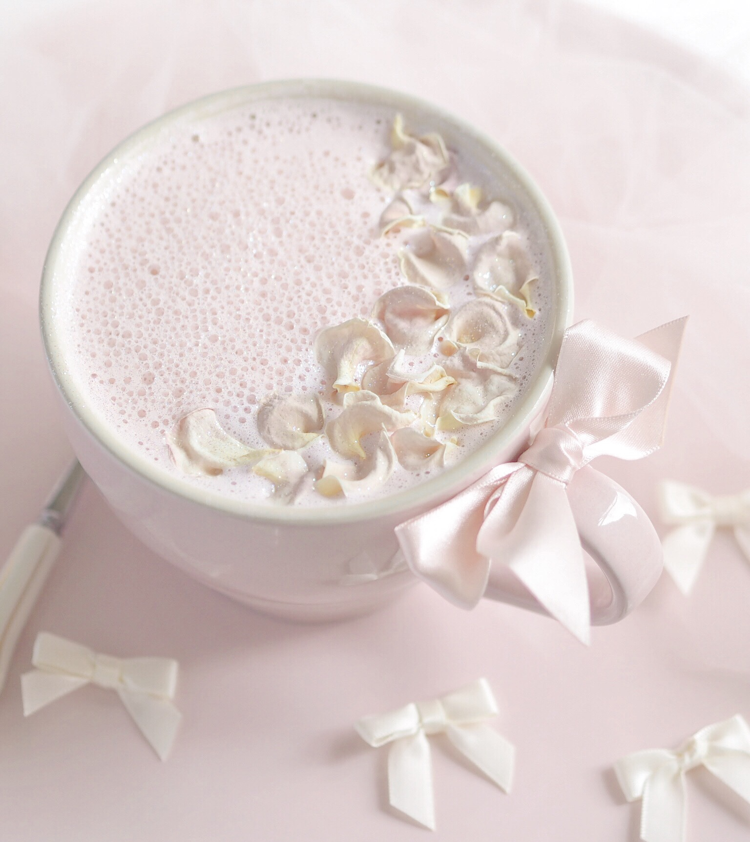 Pink Rose & Vanilla Moon Milk Recipe
