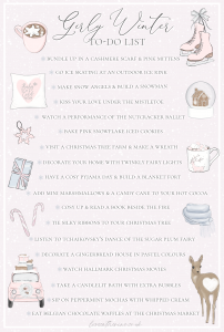 Winter To Do List: Girly Festive Ideas