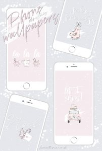Free Cute & Girly Winter Phone Wallpapers