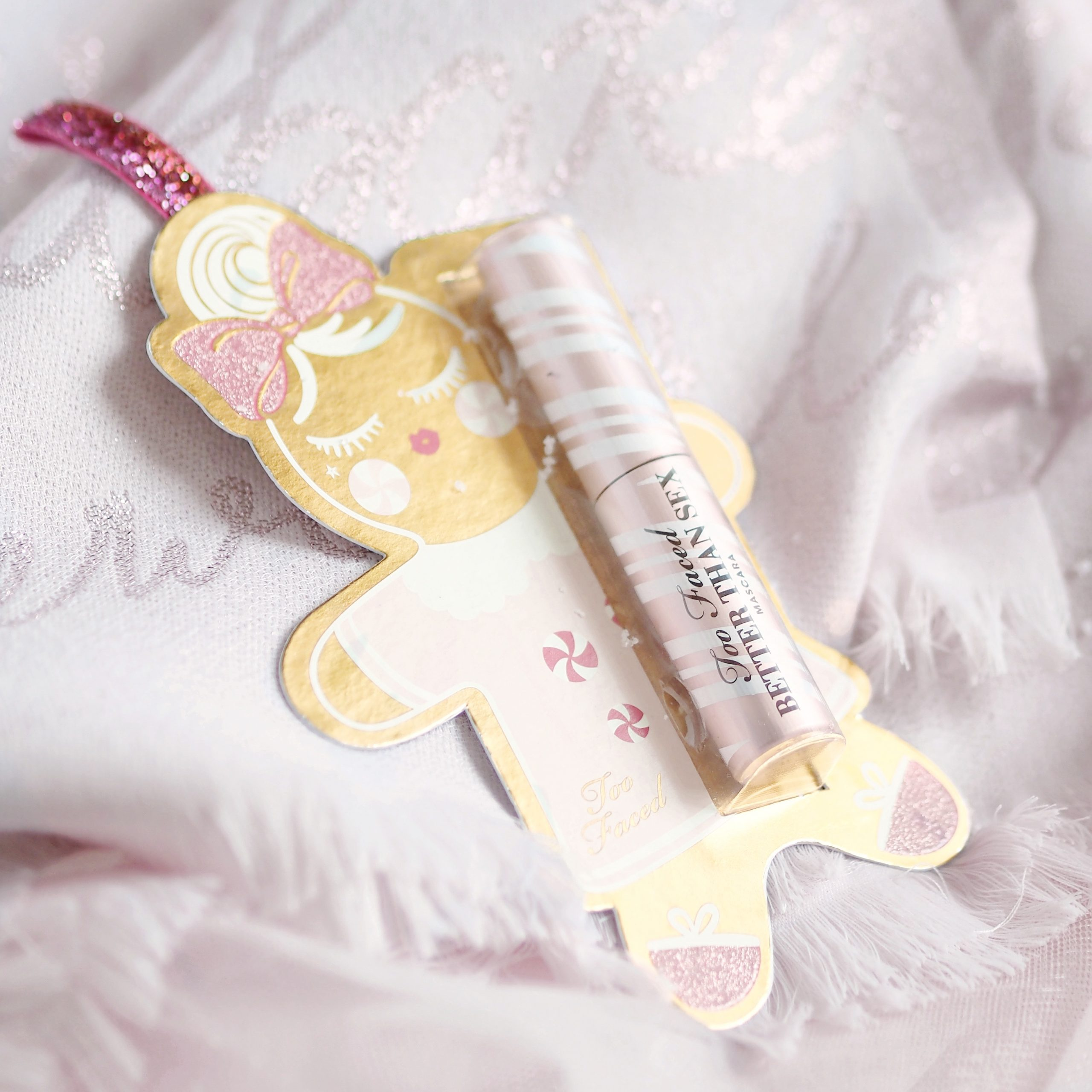 Too Faced Candy Cane Mascara Ornament | Perfectly Pretty Christmas Gift Ideas