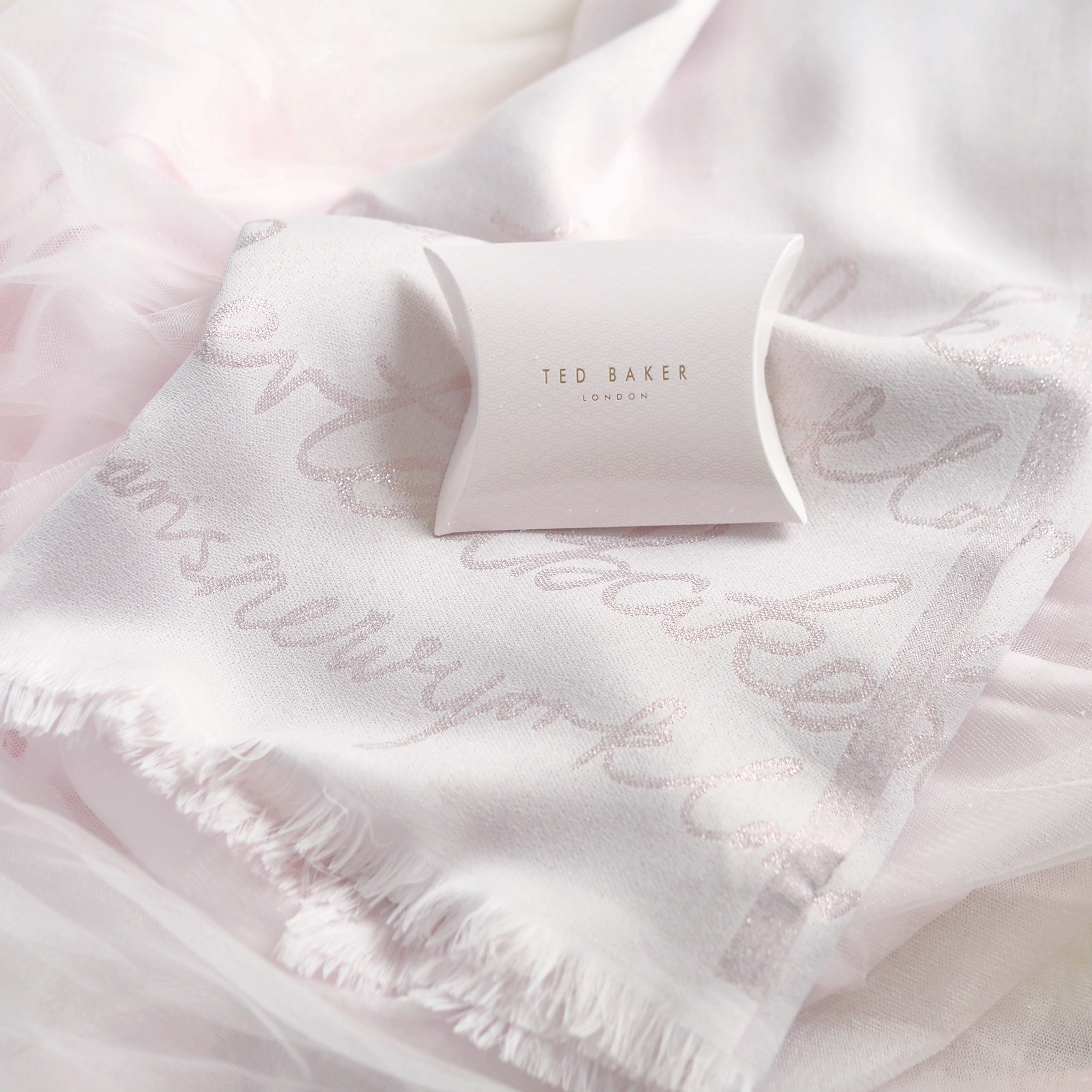 Ted Baker Pink Monogram Scarf | Perfectly Pretty Christmas Gift Ideas