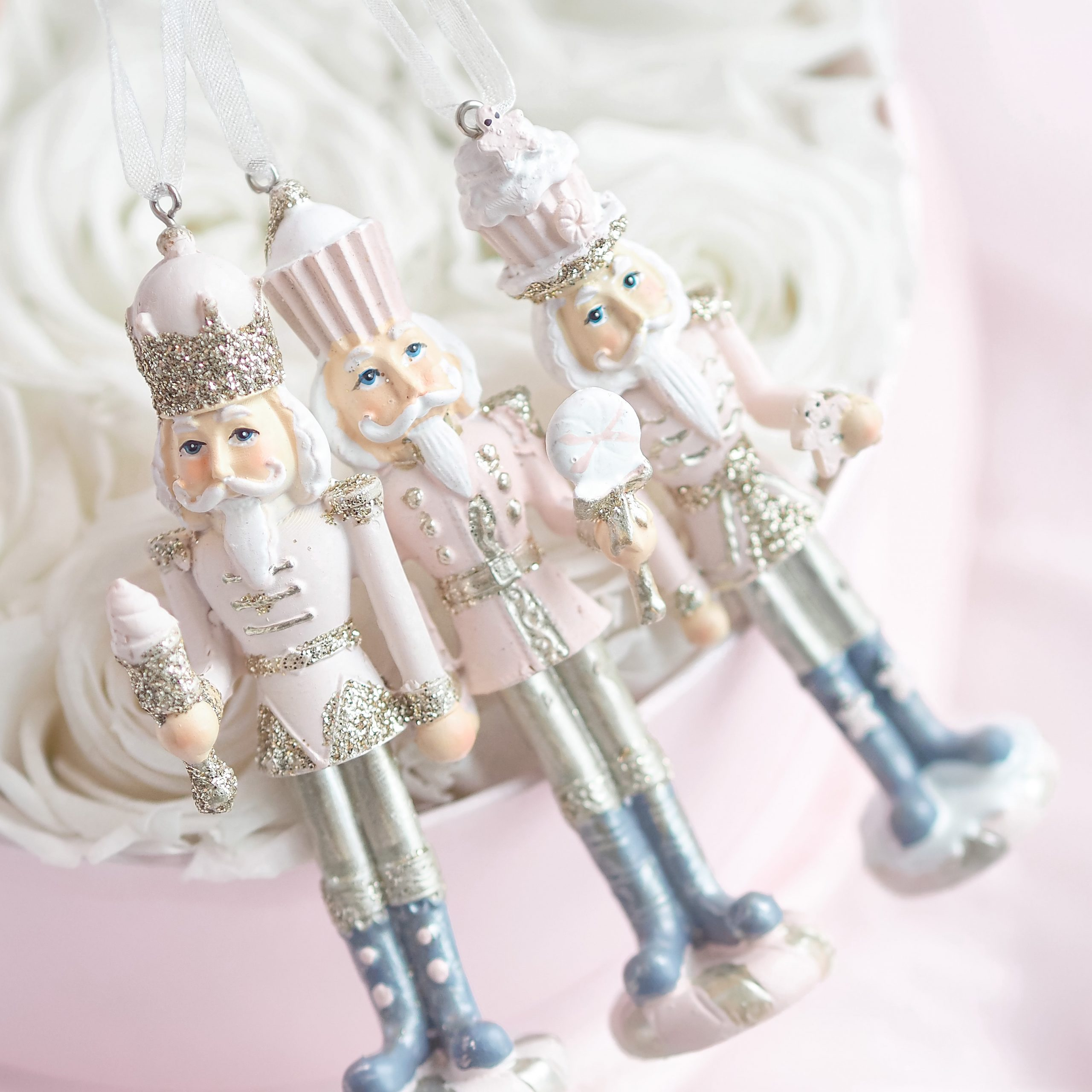 Pink Christmas Nutcracker Ornaments - Love Catherine