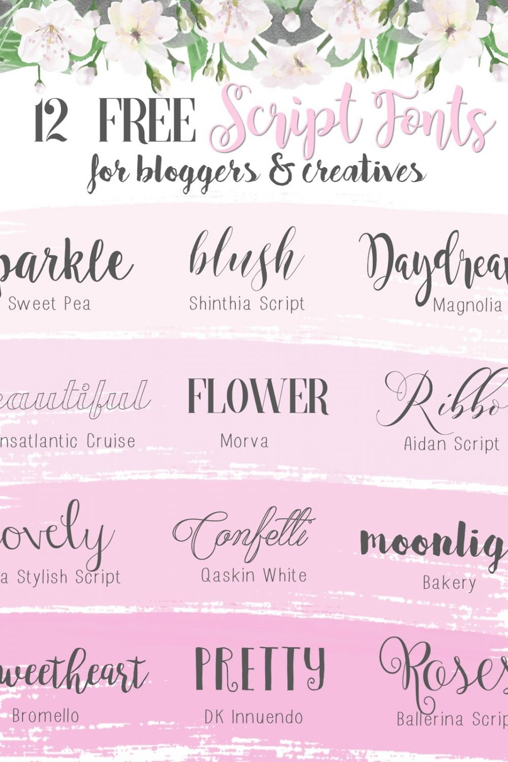 My Favourite Free Script Fonts For Blogging